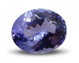 2.57 ct Oval Tanzanite IGI Certified with Inscription
