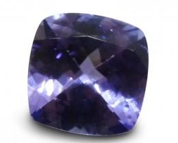 2.91 ct Cushion Tanzanite IGI Certified with Inscription - $1 No Reserve Au
