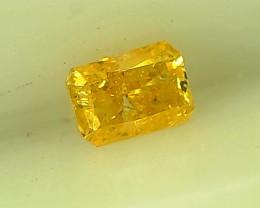 0.15ct Fancy greeenish Yellow Diamond , 100% Natural Untreated