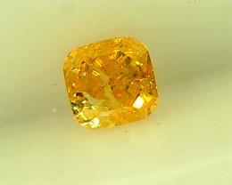 0.17cts Fancy Intense Orangish Yellow Diamond, 100% Natural Untreated