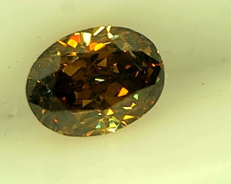 0.28ct Fancy Dark orangish brownish Green , 100% Natural Untreated