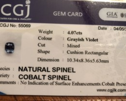 Cobalt spinel no surface treatment or heat.
