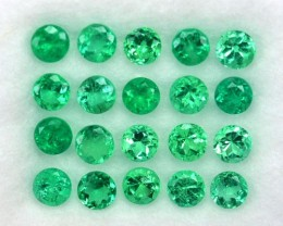 2.05 Cts Beautiful Natural Green Emerald Round  Colombia