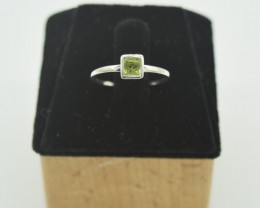 NATURAL UNTREATED PERIDOT RING 925 STERLING SILVER JE908