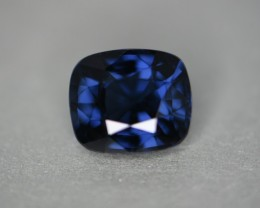 4.92 cts cobalt certified unheated natural color change spinel.