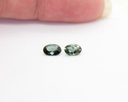 Natural Australian Sapphire Certified 2 x 0.458Ct