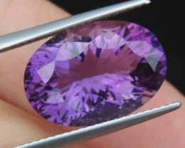 7.90cts, Amethyst,  Top Cut, Clean, Untreated, Concave