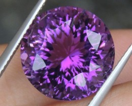 11.79cts, Amethyst,  Top Cut, Clean, Untreated, Concave