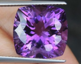 13.24cts, Amethyst,  Top Cut, Clean, Untreated, Concave