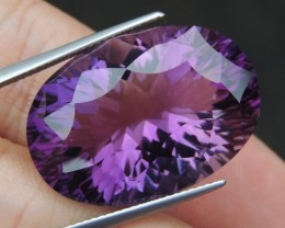 33.32cts, Amethyst,  Top Cut, Clean, Untreated, Concave