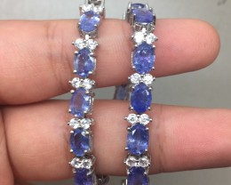 (B5) Gracious Nat 74.7tcw. Top Rich Blue Tanzanite CZ Bracelet