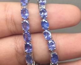 (B5) Gracious Nat 58.2tcw. Top Rich Blue Tanzanite Bracelet