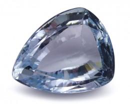 2.72 ct Shield / Trillion Aquamarine