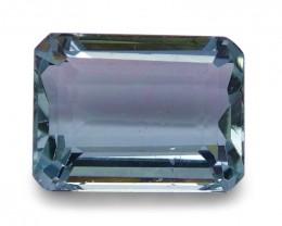 1.84 ct Emerald Cut Aquamarine - $1 NR Auction
