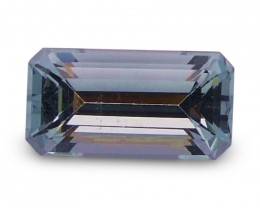1.51 ct Baguette Aquamarine - $1 No Reserve Auction