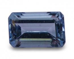 1.38 ct Emerald Cut Aquamarine