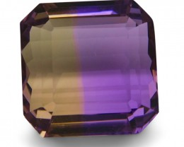 20.20 ct Square Ametrine -$1 No Reserve Auction