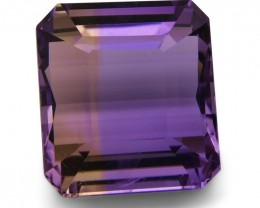 17.40 ct Square Ametrine - $1 No Reserve Auction
