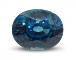 3.27 ct Oval Blue Zircon-$1 No Reserve Auction