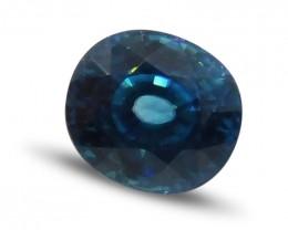 3.03 ct Oval Blue Zircon