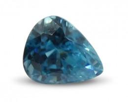 2.95 ct Pear Blue Zircon