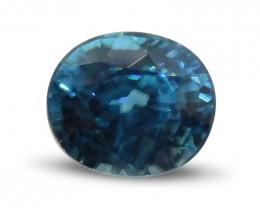 3.47 ct Oval Blue Zircon