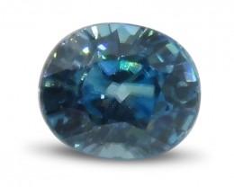 2.7 ct Oval Blue Zircon