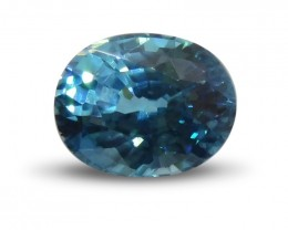3.06 ct Oval Blue Zircon