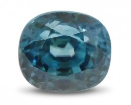 2.65 ct Oval Blue Zircon-$1 No Reserve Auction