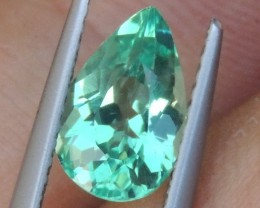 1.58cts Neon Apatite,  Jaw Dropping Luster, Calibrated
