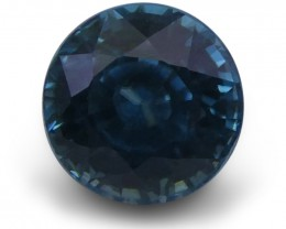 3.03 ct Round Blue Zircon