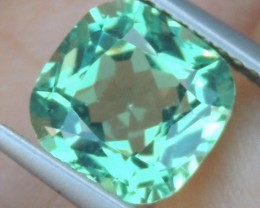 2.72cts Neon Apatite,  Jaw Dropping Luster, Calibrated