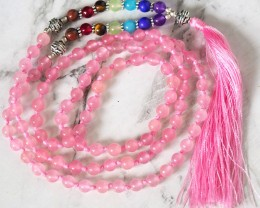 Pink Rose Quartz Prayer Beads WS388