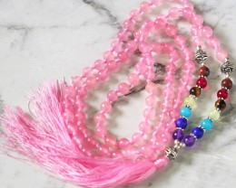 Pink Rose Quartz Prayer Beads WS389