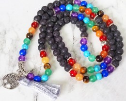 Lava with the Tree of Life Prayer Beads WS402