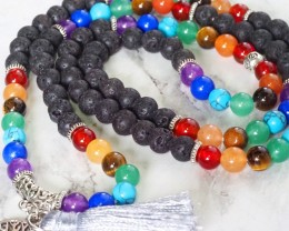 Lava with the Tree of Life Prayer Beads WS403