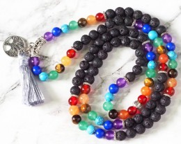 Lava with the Tree of Life Prayer Beads WS406