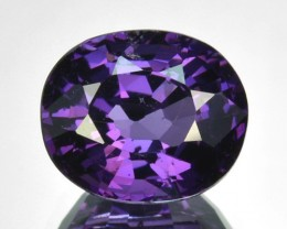 1.69Ct Gorgeous Unheated Natural Purple Spinel Oval