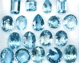10.72Ct Fine Blue Natural Aquamarine Mixed Parcel