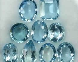 11.93Ct Brilliant Blue Natural Aquamarine  Mixed Parcel