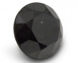 3.42 ct Round Black Diamond