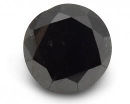 2.41 ct Round Black Diamond