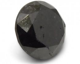 1.78 ct Round Black Diamond