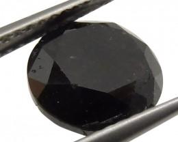 3.76 ct Round Black Diamond