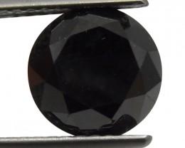 $1 No Reserve Auction -2.87 ct Round Black Diamond