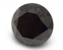 2.65 ct Round Black Diamond