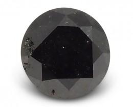 1.76 ct Round Black Diamond