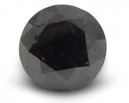 1.81 ct Round Black Diamond