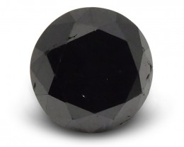 3.38 ct Round Black Diamond