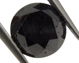 1.96 ct Round Black Diamond - $1 No Reserve Auction